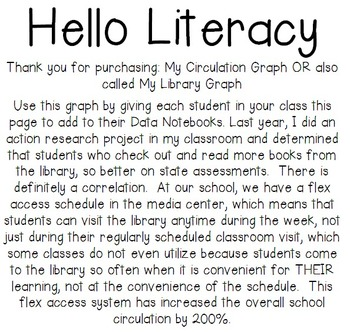 My Circulation Graph {a.k.a. Library Check-Out} for Student Data Notebooks