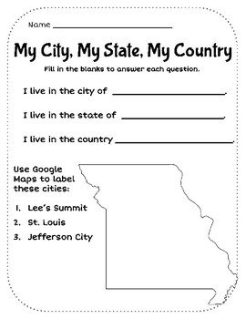 My City, My State, My Country - Missouri
