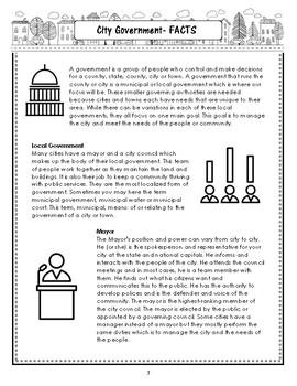 My City Report: Workbook & Information Articles Download