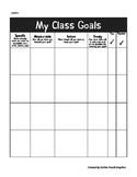 My Class Goal Setting Sheet