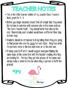 My Class Treasure Hunt- Little Learners Edition
