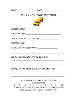 My Class Trip Record