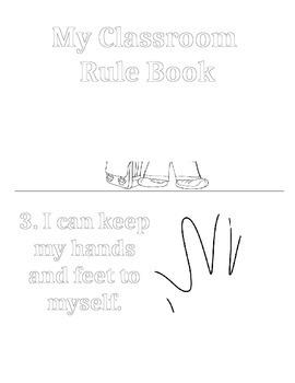 My Classroom Rule Book -- First Week of School