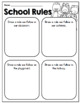 My Classroom Rules: Activities for Introducing Rules the First Weeks of School