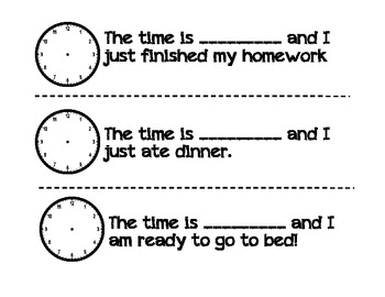 My Clock Book (An Intro to Teaching Time)