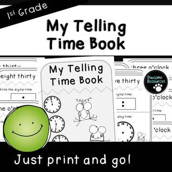 My Clock Book (First Grade, 1.MD.3)