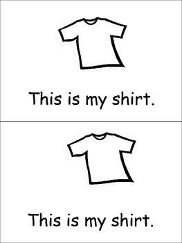 My Clothes Emergent Reader for Kindergarten Preschool or Kindergarten