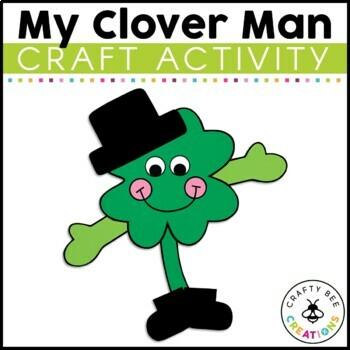 St Patricks Day Craft {My Clover Man}