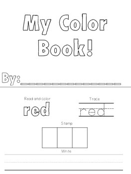 Learning Colors in Kindergarten - My Color Book