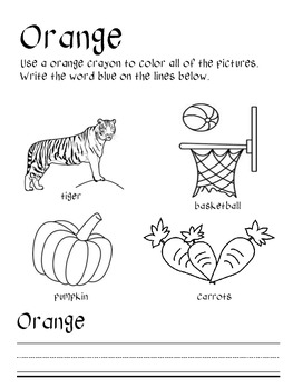 My Color Book:  A creative way to teach colors and words!