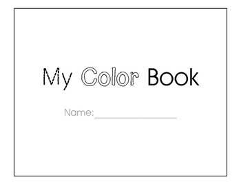 My Color Book: Students Trace, Color and Write Primary Colors to Make a Book