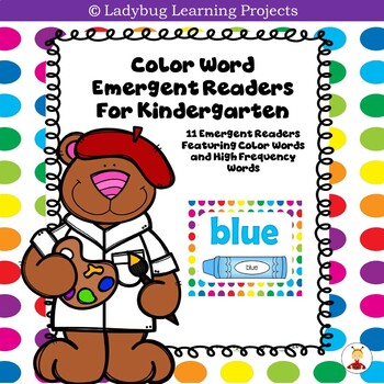 """My """"Color"""" Books--Sight Word Emergent Readers"""