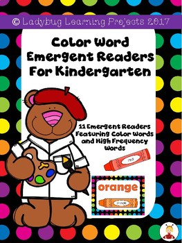 Color Word Emergent Readers & Color Posters for Kindergarten Bundle (11 colors)