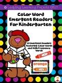 Color Word Emergent Readers & Color Posters for Kindergarten Bundle (11 colors)