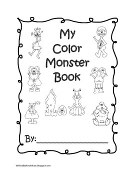 my color monster coloring book by wills valley kinder kats by jana