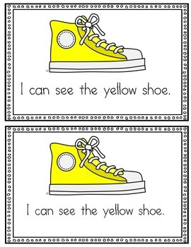 My Color Shoes Emergent Reader