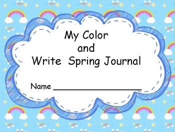 My Color and Write Spring Journal
