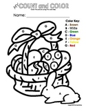 My Color by Letter/Number Easter Basket Color Sheets - Spring (Bundle Pack)