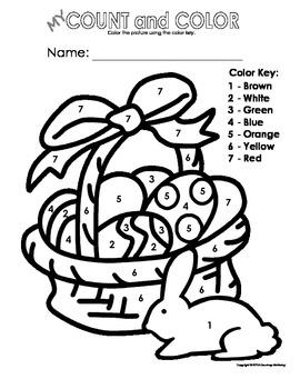 my color by letter number easter basket color sheets spring bundle pack. Black Bedroom Furniture Sets. Home Design Ideas