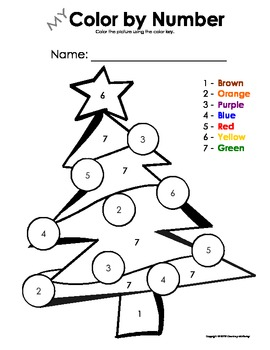 Color Number Christmas Worksheets & Teaching Resources | TpT