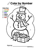 My Color by Number Snowman - Winter/Christmas