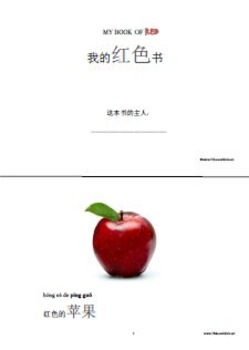 My Colorful Fruits and Vegetables -- A Chinese Learning Material for kids
