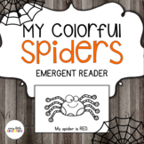 My Colorful Spiders Book - Color Words (Halloween)