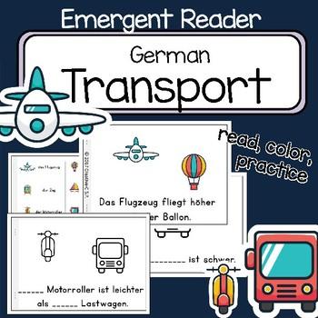 Transport - German Emergent Reader Verkerhsmittel -  read and write - comparison