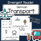 Transport - German Emergent Reader Verkehrsmittel -  read and write - comparison