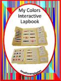 Color Recognition Interactive Lapbook Autism Preschool Special Education