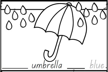 My Colourful Umbrella (QLD Font)