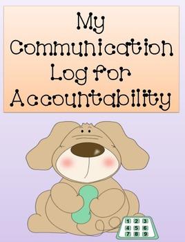 My Communication Log for Accountability