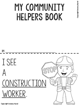 My Community Helpers Book: Emergent Reader Freebie