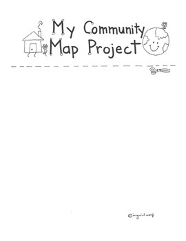My Community Map Project for Social Studies