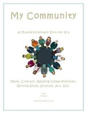 """My Community"" Math and Literacy Unit - Aligned with Commo"
