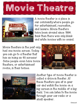 My Community Places; A Movie Theatre