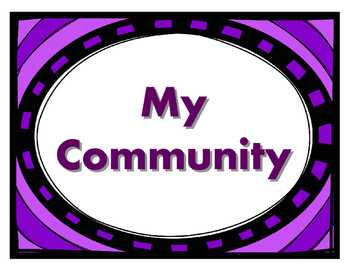 Social Studies My Community: Posters and Worksheets