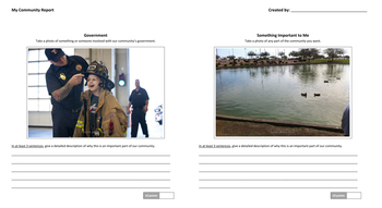 My Community Report - Social Studies, Oral Report, & Expository Writing