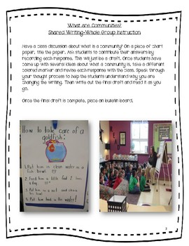 My Community Unit Package NO PREP/ Project-Based Learning Common Core