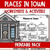 Places in Town  | Vocabulary Activities and Worksheets for ESL