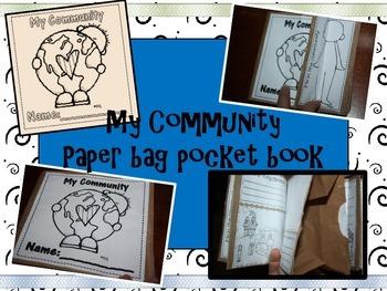 My Community paper bag book