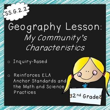 My Community's Characteristics  (2nd Grade, Standards Aligned)