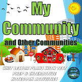 My Community with Lesson Plans, Test Prep, & Interactive Notebook Bundle
