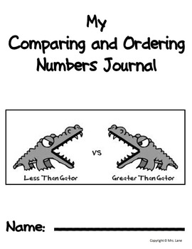 My Comparing & Ordering Numbers Journal