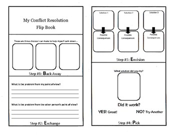 My Conflict Resolution Flip Book
