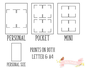 My Contacts List Printable Planner Insert