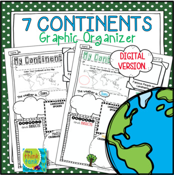 My Continent Graphic Organizer