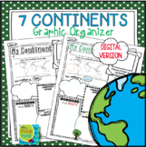 My Continent Graphic Organizer   Distance Learning   Digit