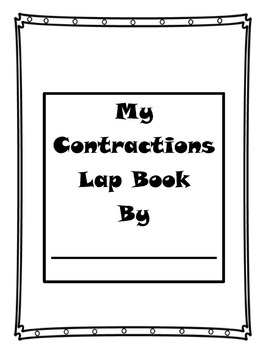 My Contractions' Lap Book