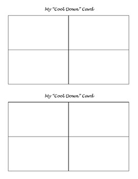 My Cool Down Card Template